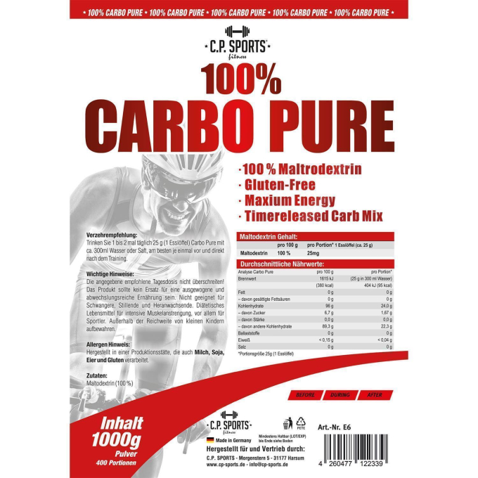 100% Carbo Pure / Power Plex - 6000g