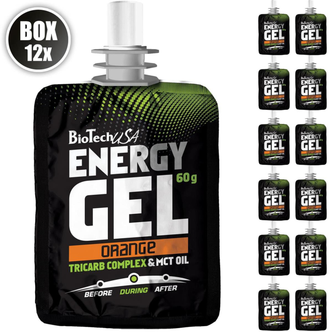 Biotech USA Energy Gel, 12x60g Beutel , Orange