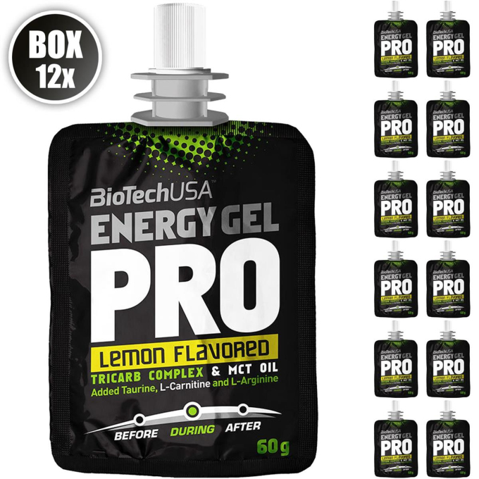 Biotech USA Energy Gel Professional, 12x60g Beutel , Lemon