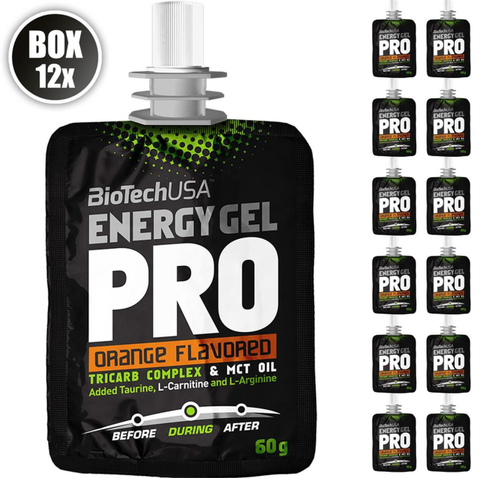 Biotech USA Energy Gel Professional, 12x60g Beutel , Orange