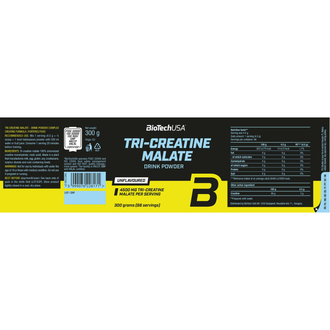 Biotech USA Tri Creatine Malate - 300g