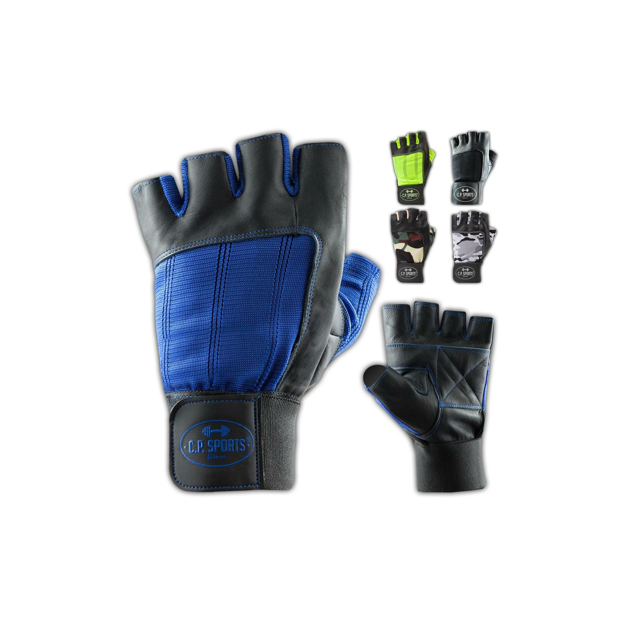 BAY® TOP LEDER CUDDLY Trainings Handschuhe mit Handgelenk Bandagen schwarz neu