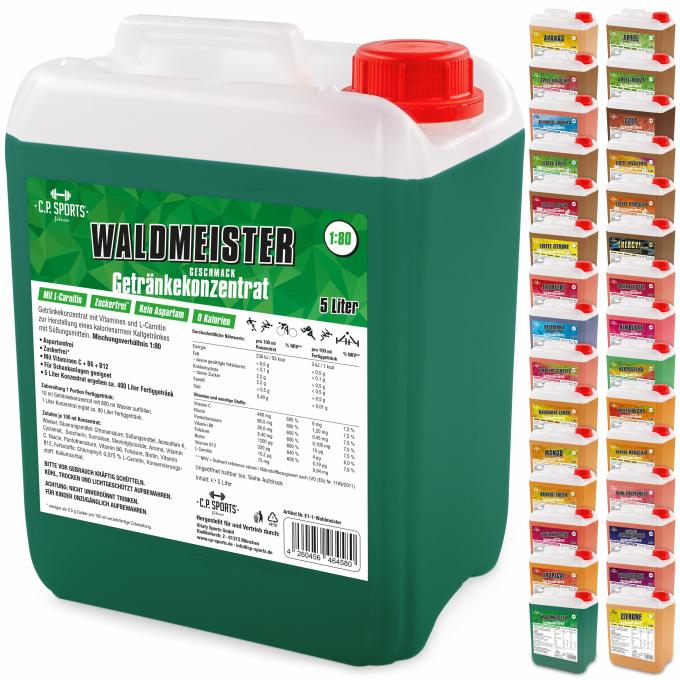Getränkekonzentrat/Mineral 5 Liter - C.P. SPORTS - Der Fitness- und ...