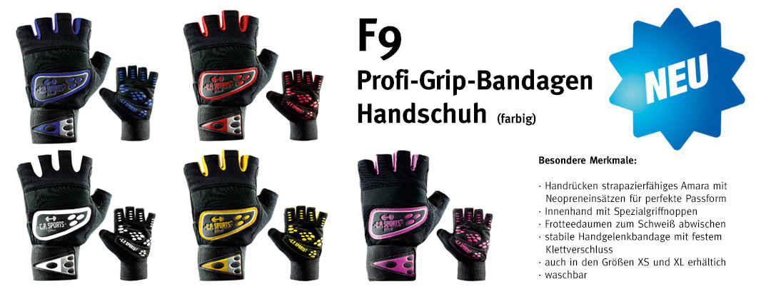 Profi-Grip-Bandagen-Handschuh - F9 farbig